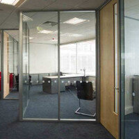 Logika 3000 Double Glazed Glass Office Partitioning System