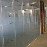 Logika 5000 Double Glazed Frameless Office Partitioning