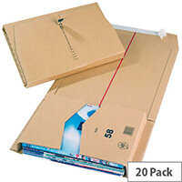 Ambassador Mailing Boxes 330x250x80mm Brown Pack of 20