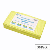 2Work All Purpose Cleaning Cloths Yellow Pack of 50 KECORYY