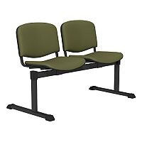 OI Series 2-Seater Bench With Vinyl Upholstered Seat Olive Green L052