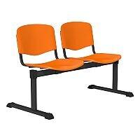OI Series 2-Seater Bench Plastic Seat Orange
