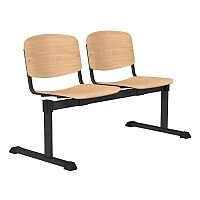 OI Series 2-Seater Bench Wooden Seat Beech