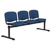 OI Series 3-Seater Bench With Fabric Upholstered Seat Blue E030