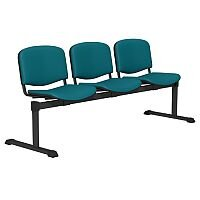 OI Series 3-Seater Bench With Vinyl Upholstered Seat Peacock Blue L032
