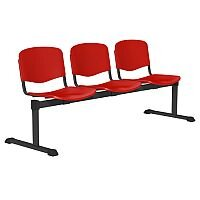 OI Series 3-Seater Bench Plastic Seat Red