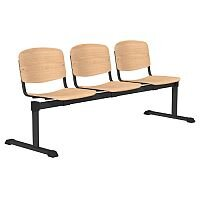 OI Series 3-Seater Bench Wooden Seat Beech