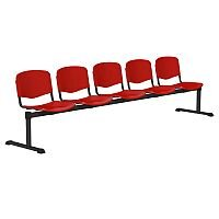 OI Series 5-Seater Bench Plastic Seat Red