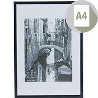 Photo Album Company Certificate Frame A4 Back Loader Black A4MARBLK-NG