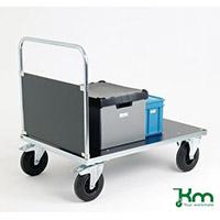 Platform Truck Single Ply End Blue/Black 376418 500kg