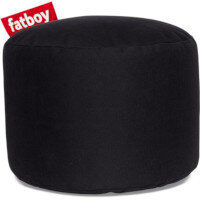 The Point Stonewashed Bean Bag Pouf Stool 35x50 Black Suitable for Indoor Use - Fatboy The Original Bean Bag Pouf Stool Range