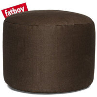 The Point Stonewashed Bean Bag Pouf Stool 35x50 Brown Suitable for Indoor Use - Fatboy The Original Bean Bag Pouf Stool Range