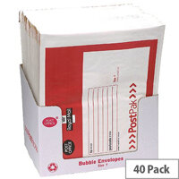 Post Office Postpak Size 5 Bubble Lined Envelopes 260x345mm Pack of 40