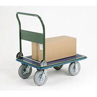 VFM 300kg Capacity Pressed Steel Platform Truck Puncture Proof Wheels 383495