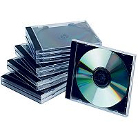 Q-Connect CD Jewel Case Black/Clear Pack of 10 KF02209