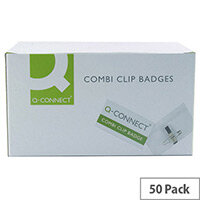 Q-Connect Combination Badge 40x75mm Pack of 50 KF01568