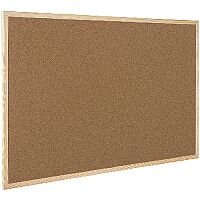 Q-Connect Cork Board Wooden Frame 600 x 400mm KF03566