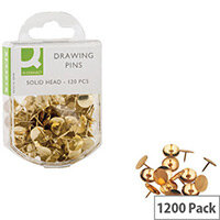 Q-Connect Drawing Pin Solid Head Pack 10 x 120 KF02018Q