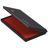 Q-Connect Large Stamp Pad Metal Case Red KF15441