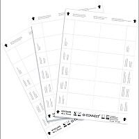 Q-Connect Name Badge Inserts 40x75mm 25 Sheets x 12 Inserts KF02288