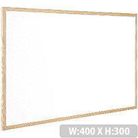 Whiteboard Wooden Frame 400x300mm Q-Connect KF03569