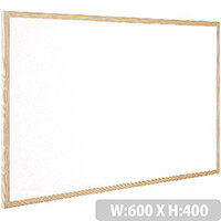Q-Connect Whiteboard Wooden Frame 600x400mm – White Surface, Wall-Mountable, Home Or Office, Easily Cleaned, No Scratch Or Blemish, Durable & Non-Magnetic (KF03570)