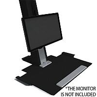 Humanscale QuickStand Height-Adjustable Sitting/Standing Workstation Large Platform Black QSBL30