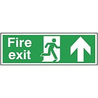 Safety Sign Fire Exit Up 150x450mm Self-Adhesive