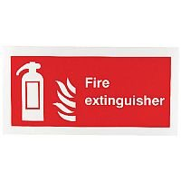 Safety Sign Fire Extinguisher Symbol 100x200mm Self-Adhesive Vinyl