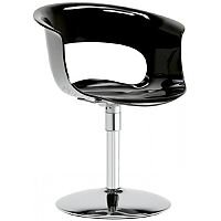 Miss B Twist Antishock Chair With Chrome Revolving Trumpet Base Glossy Black