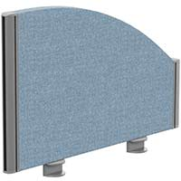 Sprint Eco Office Desk Screen Curved Top W600xH380-180mm Light Blue