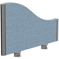 Sprint Eco Office Desk Screen Wave Top W600xH380-180mm Light Blue