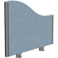 Sprint Eco Office Desk Screen Wave Top W600xH480-280mm Light Blue