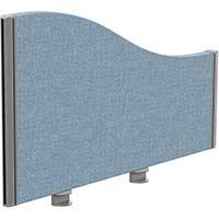 Sprint Eco Office Desk Screen Wave Top W800xH480-280mm Light Blue