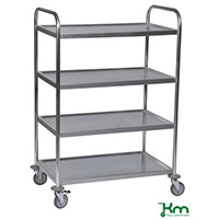 Service Trolley 4-Tier Stainless Silver 375426