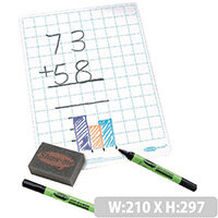 A4 Squared Whiteboard Sets 35 Pack Showme