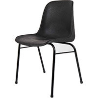 Heavy Duty Secondary School & College Poly Stacking Chair Charcoal #SSC