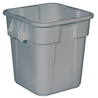 Square Brute Bin Container 151 Litre Base Without Lid Grey 382212