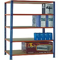 Standard Duty Painted Orange Shelf Unit Blue W900xD300xH2000mm 378966