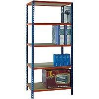 Standard Duty Painted Orange Shelf Unit Blue W900xD500xH2000mm 378970