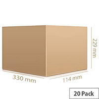 Single Wall Carton 330x229x114mm Pack of 20