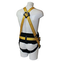 Fall Arrest Harnesses Harness With Work Positioning Belt With Additional Chest D Ring Size Up To 48 In Chest Yellow