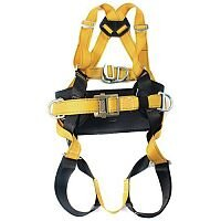 Fall Arrest Harnesses Harness With Work Positioning Belt With Additional Chest D Ring Size 48-54 In Chest Yellow