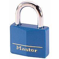 Coloured Lockout Padlock Blue Pack of 6