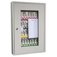 Glass Fronted Key Cabinet 50 Key Capacity
