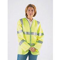 Hi-Visibility Long Sleeved Waistcoats To Bs EN471 Class III Size M