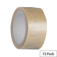 Vinyl Tape Bulk Pack 24mm Clear Pack of 72