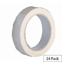 Vinyl Tape Bulk Pack 72mm White Pack of 24