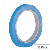 Vinyl Tape Regular Pack 12mm Blue Pack of 12