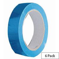 Vinyl Tape Regular Pack 24mm Blue Pack of 6